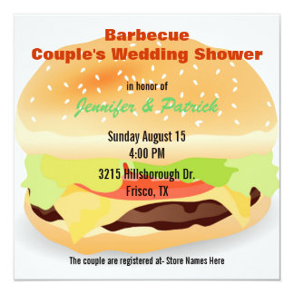 Barbecue Themed Couple's Wedding Shower Invitation
