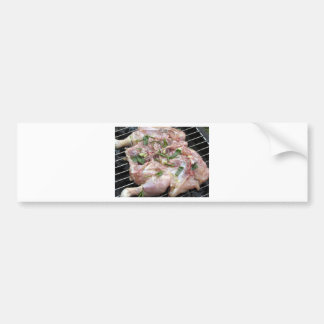 Barbecued chicken on the grill bumper sticker