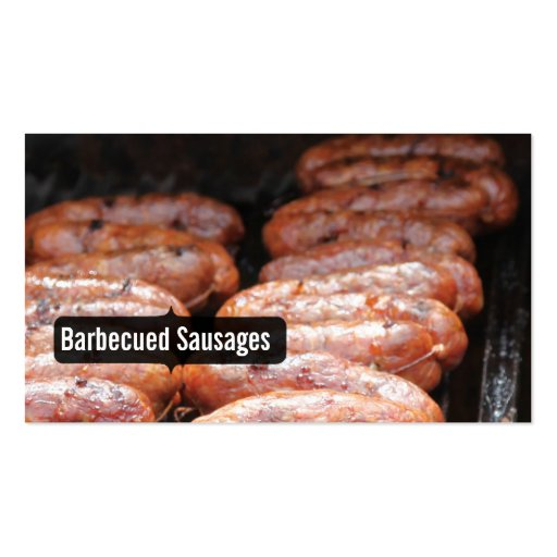 Barbecued Sausages/grill/bbq Business Cards