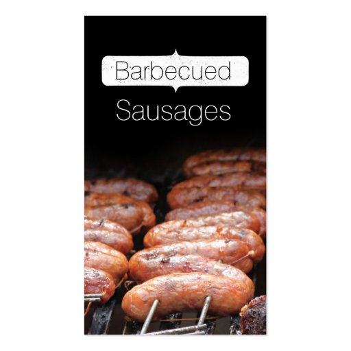 Barbecued Sausages/grill/bbq Business Card