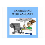 barbecueing with zachary postcard