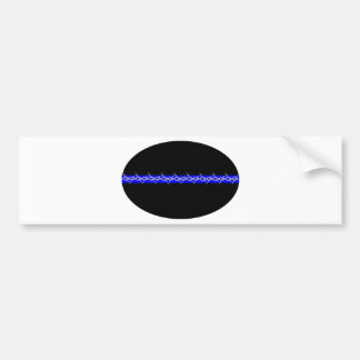Barbed Blue Line Corrections Bumper Sticker