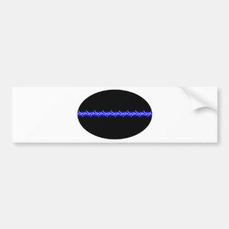 Barbed Blue Line Corrections Bumper Sticker