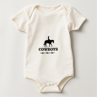 barbed cowboy art baby bodysuit