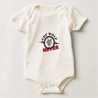 barbed cry wolf no baby bodysuit