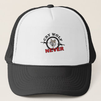 barbed cry wolf no trucker hat