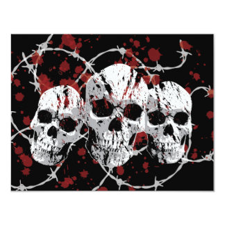 Barbed Skull Custom Party Invitations