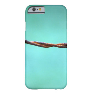 barbed WIRE AGAINST SKY BLUE BACKGROUND RANDOM ABS Barely There iPhone 6 Case
