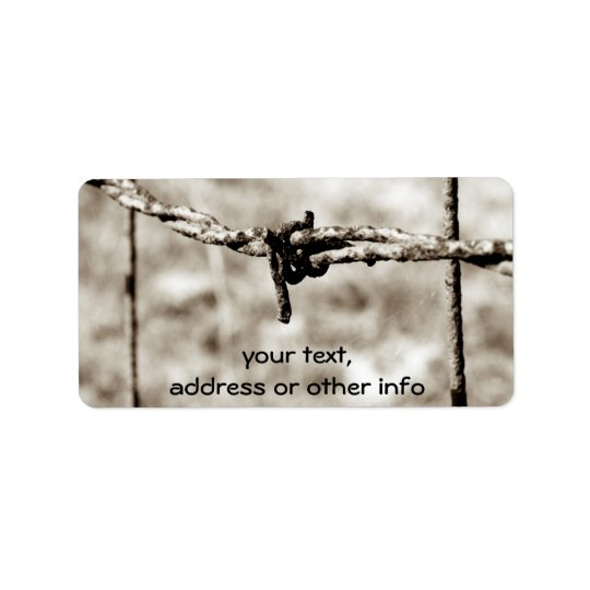Barbed Wire Fencing (Sepia) Label