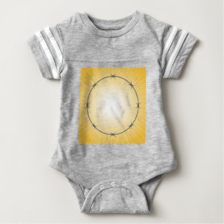 barbed wire frame baby bodysuit