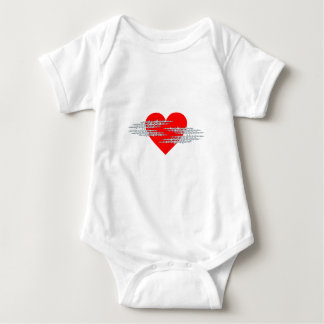 Barbed wire heart barbed wire heart baby bodysuit