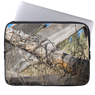 """Barbed Wire New Mexico 13"""" Laptop Case"""