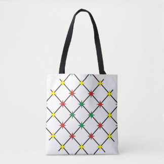 barbed wire rasta tote bag