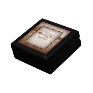 barbed wire western country wedding keepsake boxes