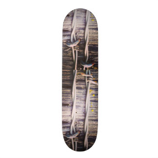Barbed Wood Texture Skateboard