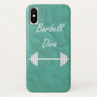 Barbell Diva Fitness Barbell Cast iPhone X Case