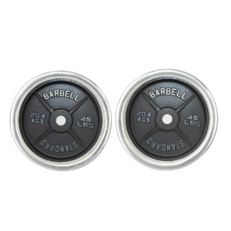 Barbell Plate Cufflink Cuff Links