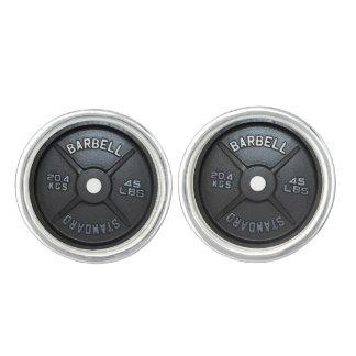 Barbell Plate Cufflink Cuff Links