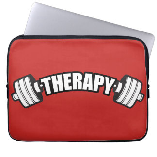 Barbell - THERAPY - Workout Inspirational Laptop Sleeve
