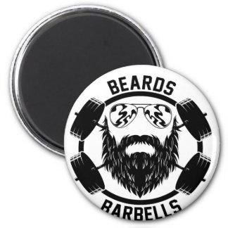 barbells beards magnet