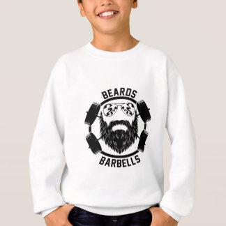 barbells beards sweatshirt