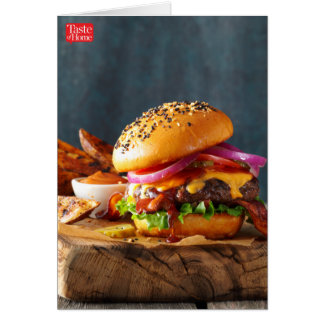 Barbeque Burgers Card