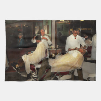 Barber - A time honored tradition 1941 Kitchen Towel