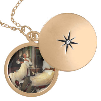 Barber - A time honored tradition 1941 Locket Necklace