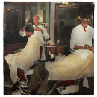 Barber - A time honored tradition 1941 Napkin