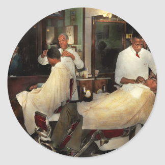 Barber - A time honored tradition 1941 Round Sticker