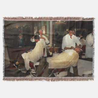 Barber - A time honored tradition 1941 Throw Blanket