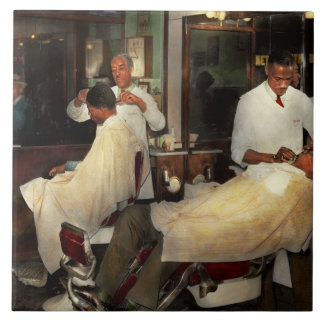 Barber - A time honored tradition 1941 Tile