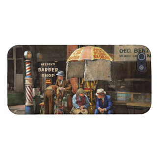 Barber - At Nelson's Barber Shop 1937 iPhone 5 Covers