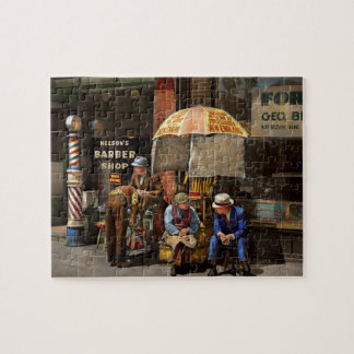 Barber - At Nelson's Barber Shop 1937 Jigsaw Puzzle