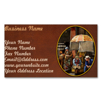 Barber - At Nelson's Barber Shop 1937 Magnetic Business Card