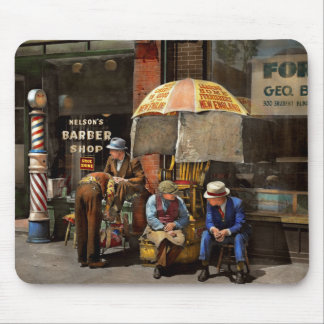 Barber - At Nelson's Barber Shop 1937 Mouse Pad