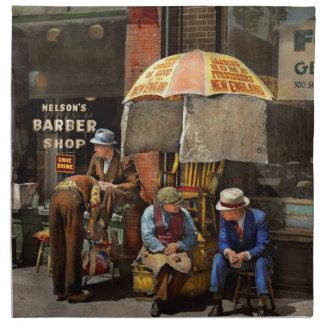 Barber - At Nelson's Barber Shop 1937 Napkin