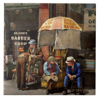 Barber - At Nelson's Barber Shop 1937 Tile