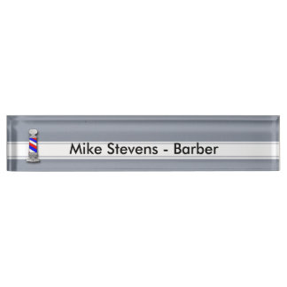 Barber, Barber Shop Desk Nameplate