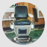 Barber Chair Front View Classic Round Sticker