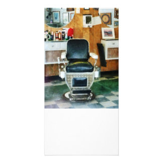 Barber Chair Front View Personalized Photo Card