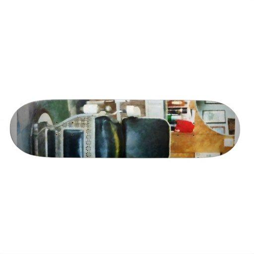 Barber Chair Front View Skate Board Decks
