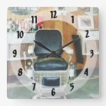 Barber Chair Front View Wall Clock