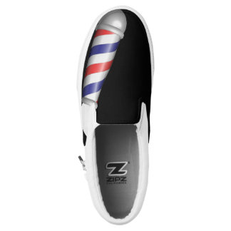 Barber Deck Tennis Shoe Black With Barber Pole