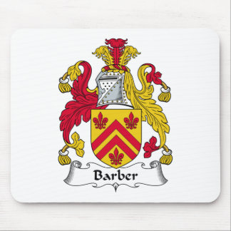 Barber Family Crest Mouse Pad