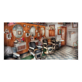 Barber - Frenchtown Barbers Photo Greeting Card