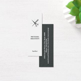 Barber Minimalist Vertical Scissor Comb Mini Business Card