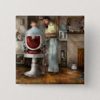 Barber - Our family barber 1935 2 Inch Square Button