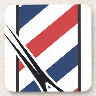 barber pole drink coasters