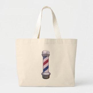 Barber Pole Large Tote Bag